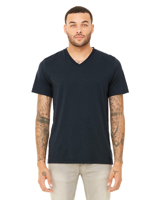 Bella + Canvas Unisex Triblend V-Neck T-Shirt SOLID NAVY TRBLN