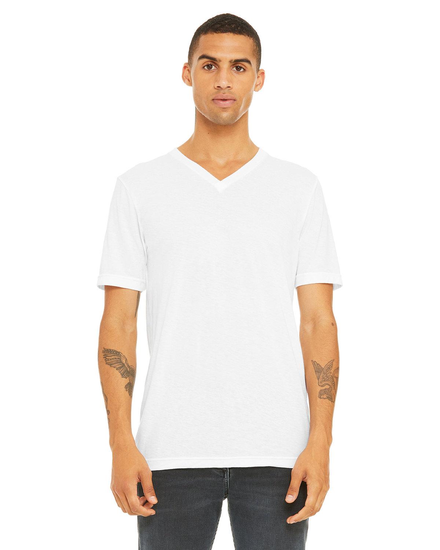 Bella + Canvas Unisex Triblend V-Neck T-Shirt SLD WHT TRBLND