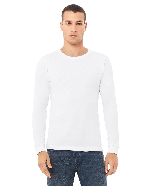 Bella + Canvas Unisex Jersey Long-Sleeve T-Shirt WHITE
