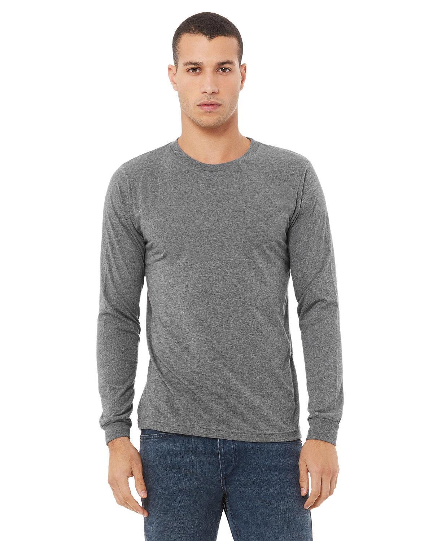 Bella + Canvas Unisex Jersey Long-Sleeve T-Shirt GREY TRIBLEND
