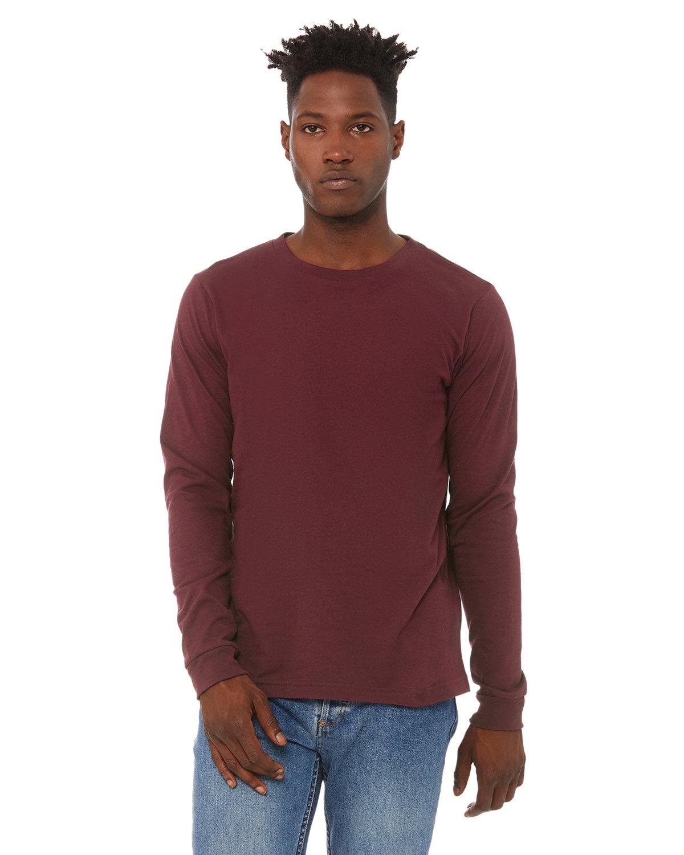 Bella + Canvas Unisex Jersey Long-Sleeve T-Shirt MAROON