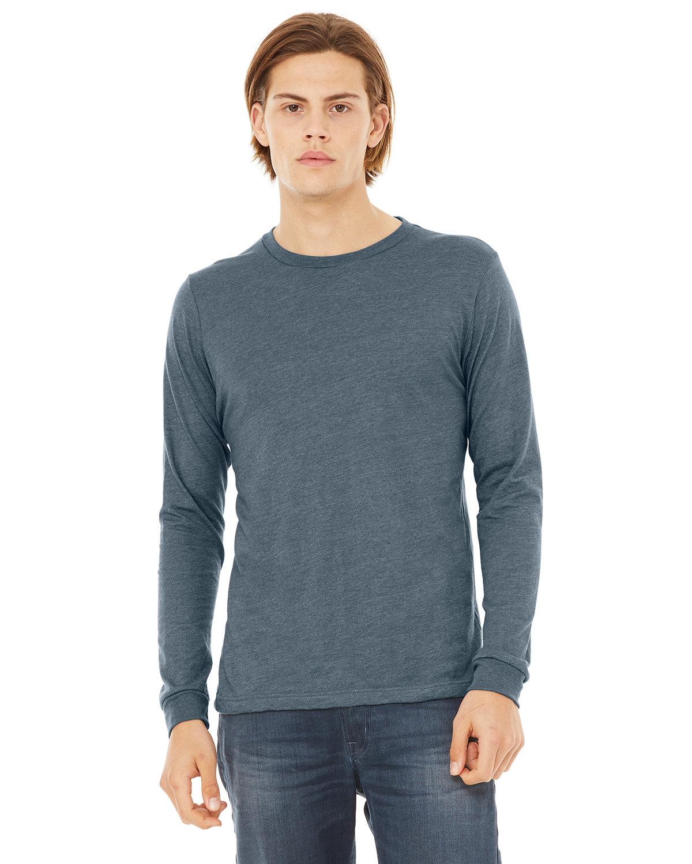 Bella + Canvas Unisex Jersey Long-Sleeve T-Shirt HEATHER SLATE