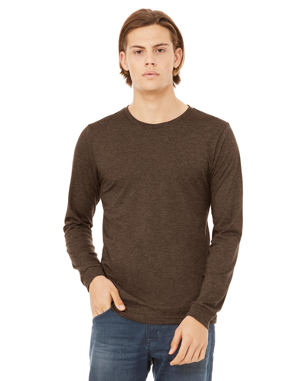 Bella + Canvas Unisex Jersey Long-Sleeve T-Shirt HEATHER BROWN