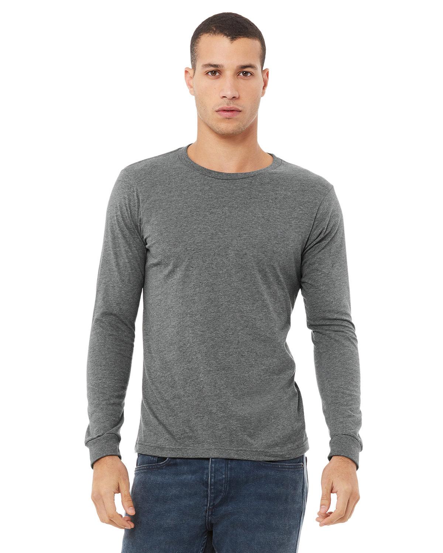Bella + Canvas Unisex Jersey Long-Sleeve T-Shirt DEEP HEATHER