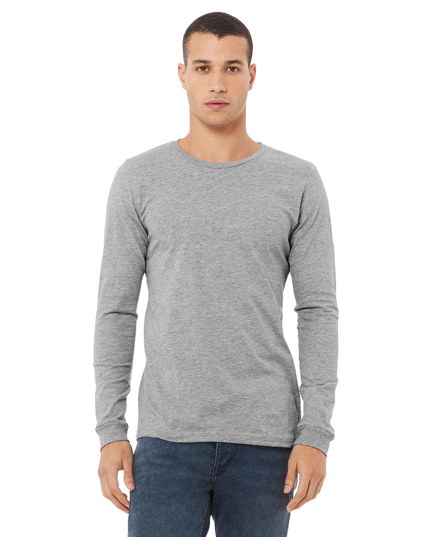 Bella + Canvas Unisex Jersey Long-Sleeve T-Shirt ATHLETIC HEATHER
