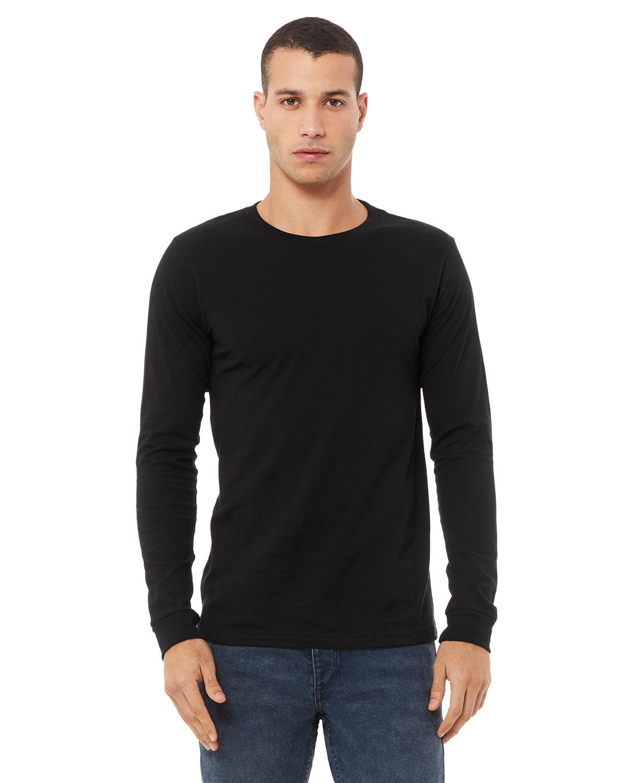 Bella + Canvas Unisex Jersey Long-Sleeve T-Shirt BLACK