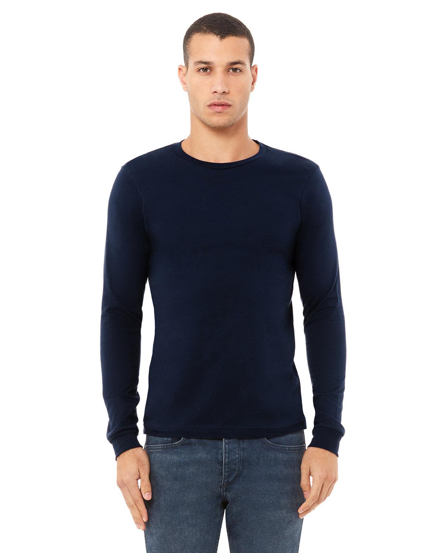 Bella + Canvas Unisex Jersey Long-Sleeve T-Shirt NAVY