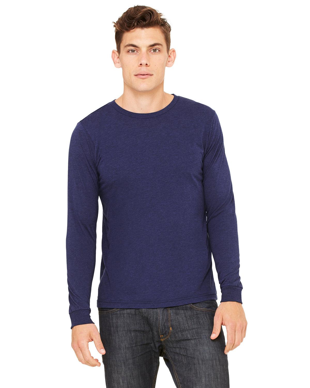 Bella + Canvas Unisex Jersey Long-Sleeve T-Shirt NAVY TRIBLEND