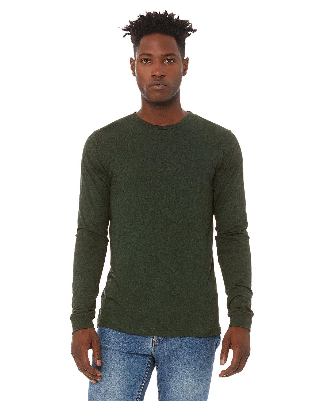Bella + Canvas Unisex Jersey Long-Sleeve T-Shirt EMERALD TRIBLEND