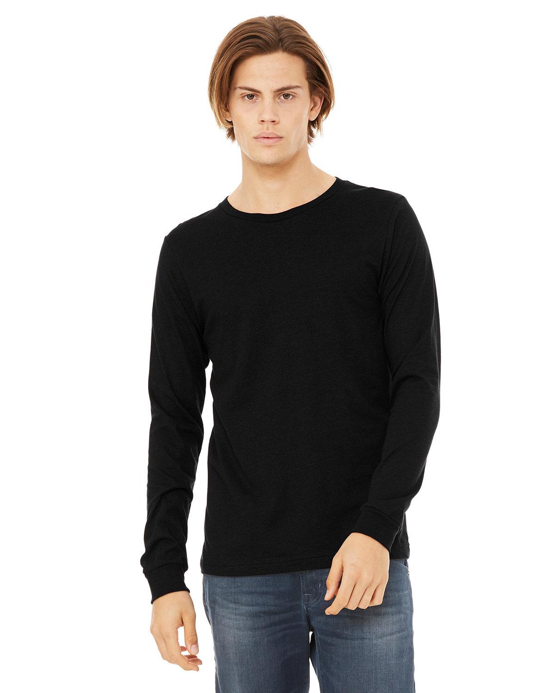 Bella + Canvas Unisex Jersey Long-Sleeve T-Shirt BLACK HEATHER