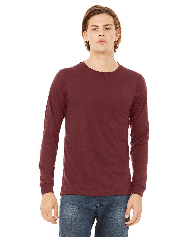 Bella + Canvas Unisex Jersey Long-Sleeve T-Shirt HEATHER CARDINAL