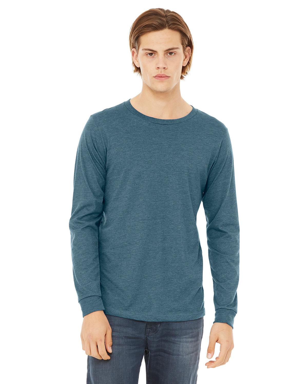 Bella + Canvas Unisex Jersey Long-Sleeve T-Shirt HTHR DEEP TEAL