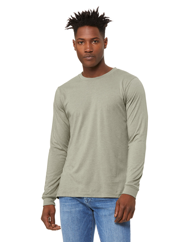 Bella + Canvas Unisex Jersey Long-Sleeve T-Shirt HEATHER STONE