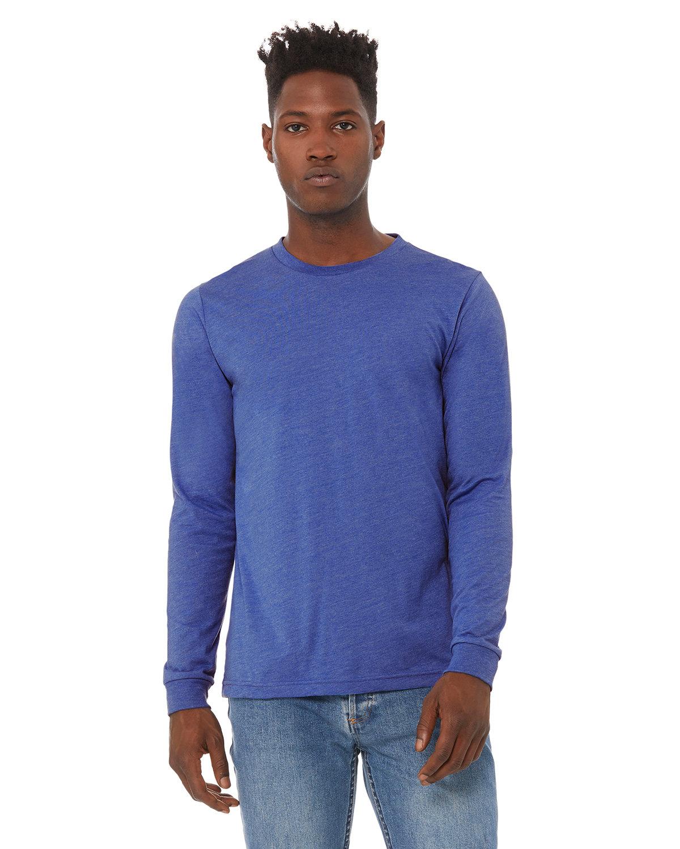 Bella + Canvas Unisex Jersey Long-Sleeve T-Shirt HEATHER TRU ROYL