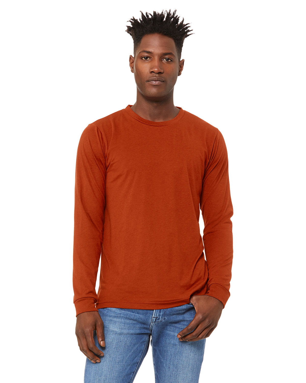 Bella + Canvas Unisex Jersey Long-Sleeve T-Shirt BRICK TRIBLEND