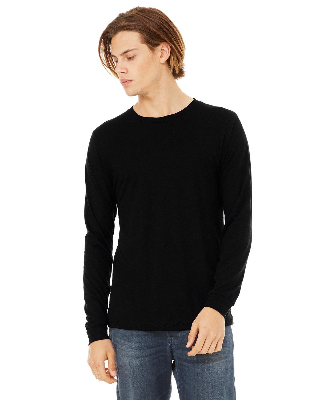 Bella + Canvas Unisex Jersey Long-Sleeve T-Shirt SOLID BLK TRIBLN