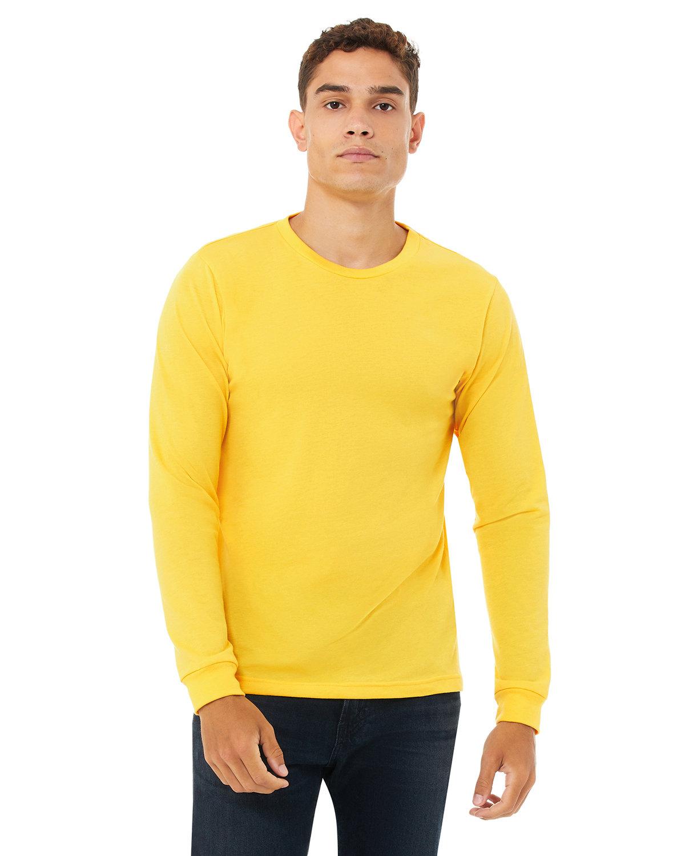 Bella + Canvas Unisex Jersey Long-Sleeve T-Shirt HTHR YELLOW GOLD