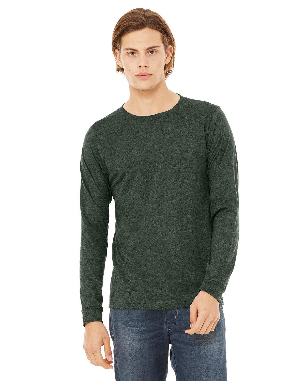 Bella + Canvas Unisex Jersey Long-Sleeve T-Shirt HEATHER FOREST