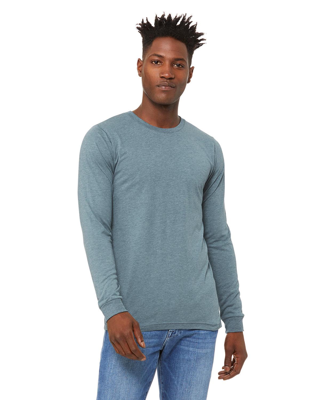 Bella + Canvas Unisex Jersey Long-Sleeve T-Shirt DENIM TRIBLEND