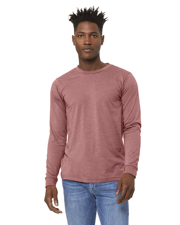 Bella + Canvas Unisex Jersey Long-Sleeve T-Shirt HEATHER MAUVE