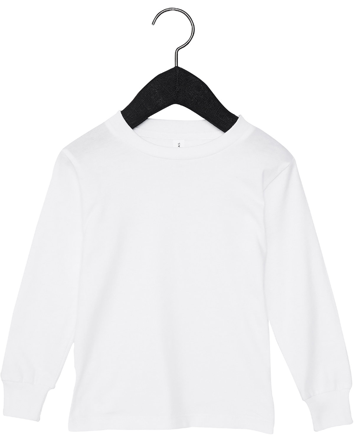 Bella + Canvas Youth Toddler Jersey Long Sleeve T-Shirt WHITE