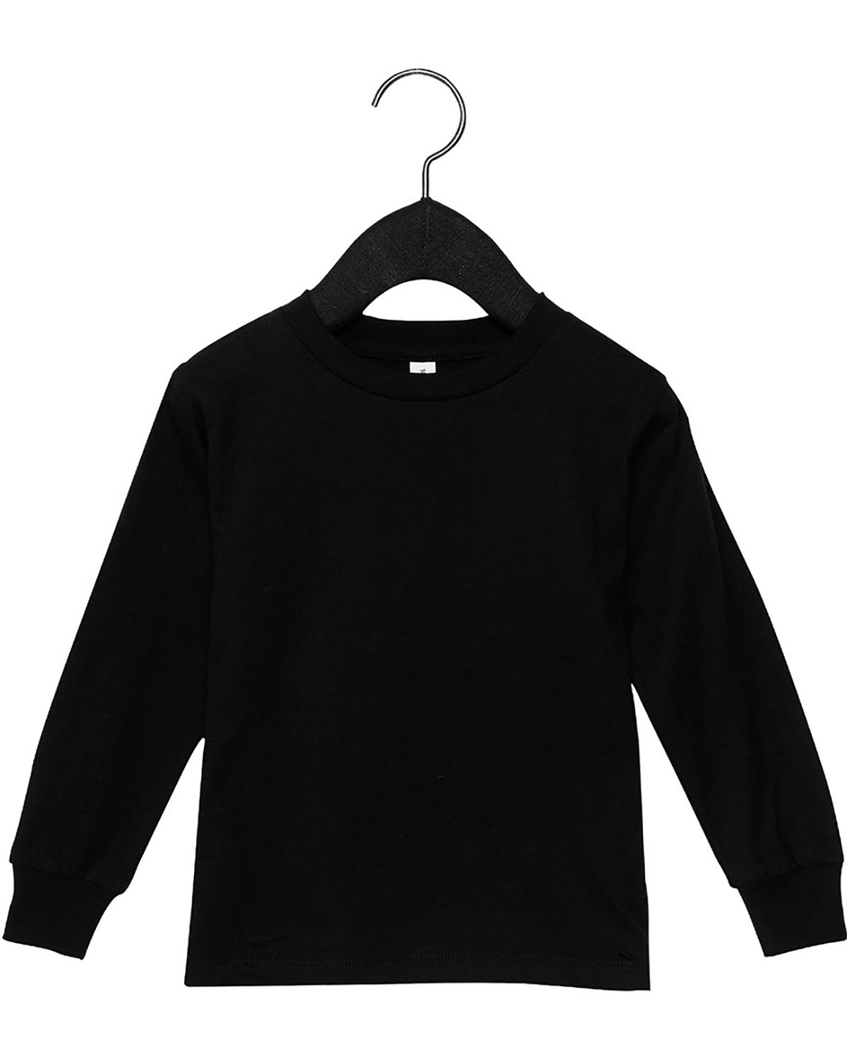 Bella + Canvas Youth Toddler Jersey Long Sleeve T-Shirt BLACK