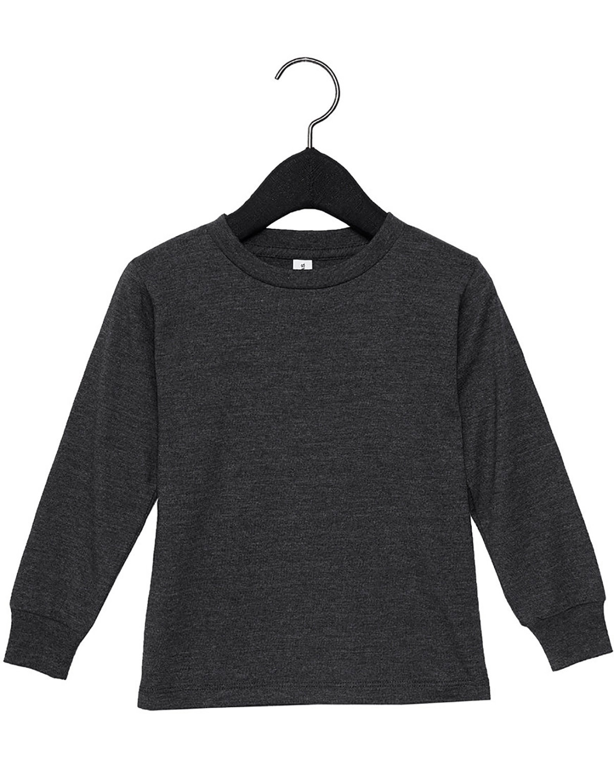 Bella + Canvas Youth Toddler Jersey Long Sleeve T-Shirt DARK GRY HEATHER