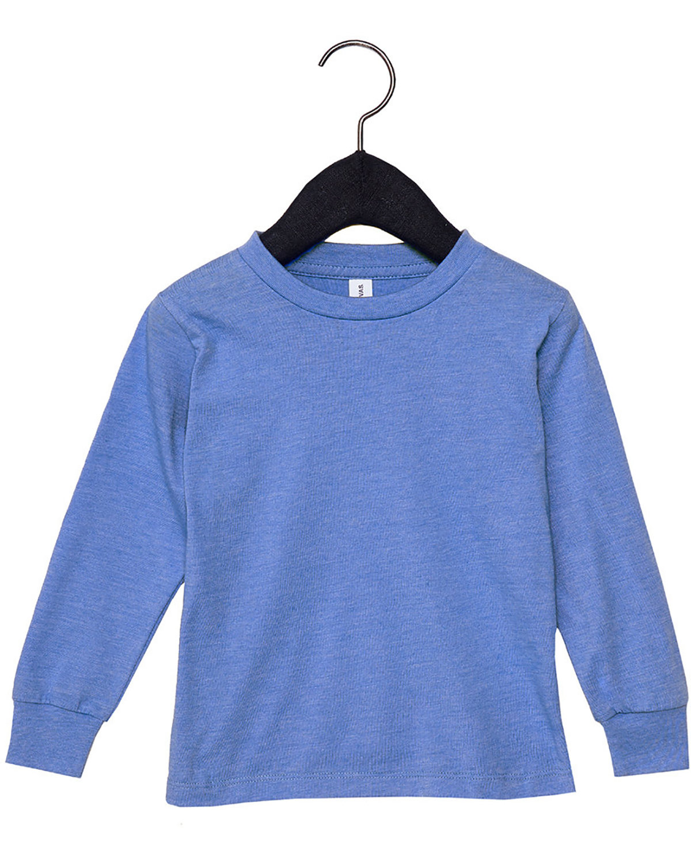 Bella + Canvas Youth Toddler Jersey Long Sleeve T-Shirt HTHR COLUM BLUE