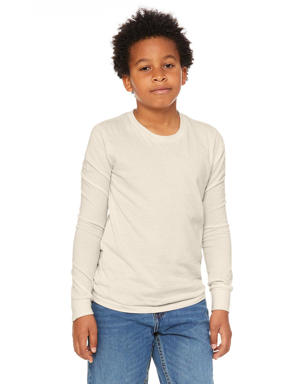 Bella + Canvas Youth Jersey Long-Sleeve T-Shirt NATURAL