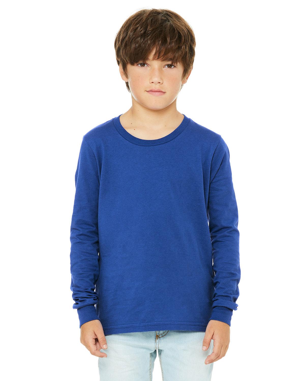 Bella + Canvas Youth Jersey Long-Sleeve T-Shirt TRUE ROYAL