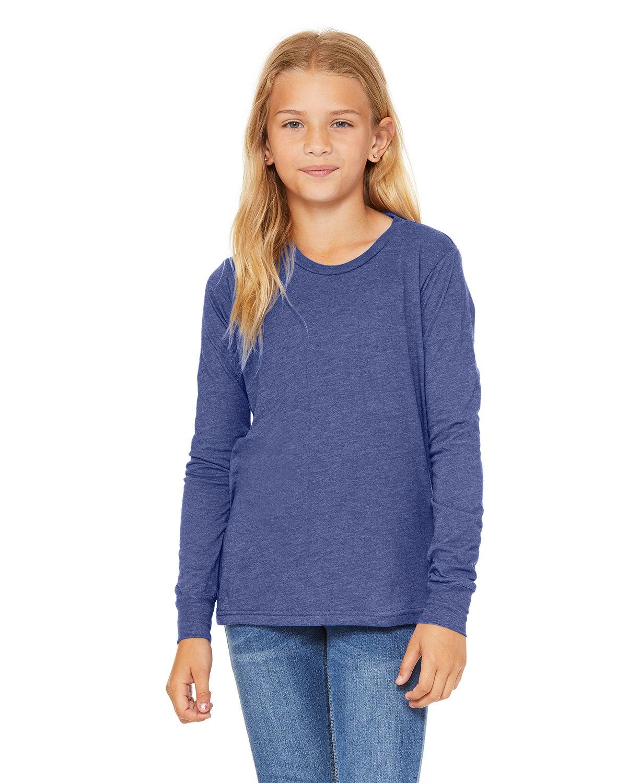 Bella + Canvas Youth Jersey Long-Sleeve T-Shirt TR ROYAL TRIBLND