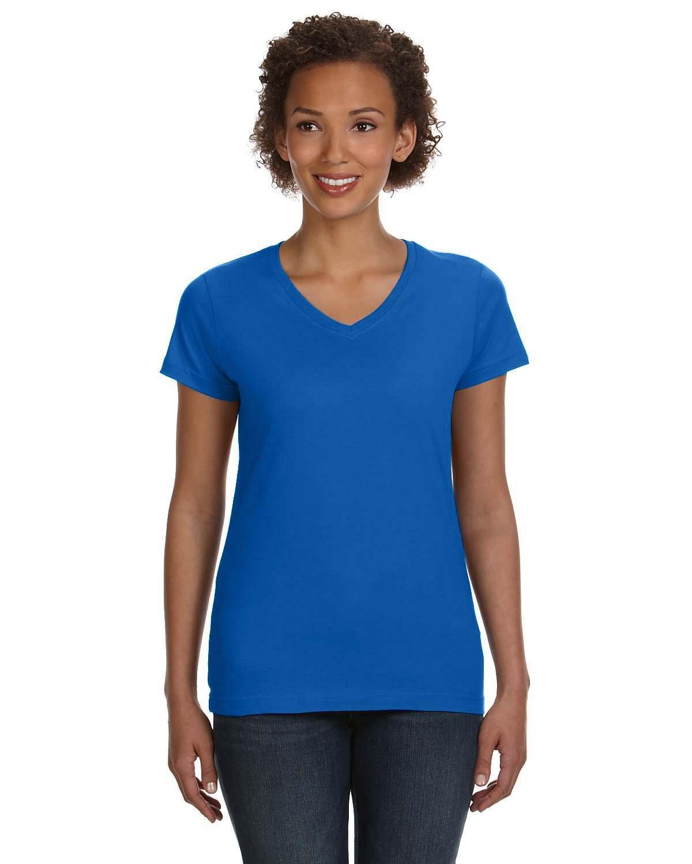 LAT Ladies' V-Neck Fine Jersey T-Shirt ROYAL
