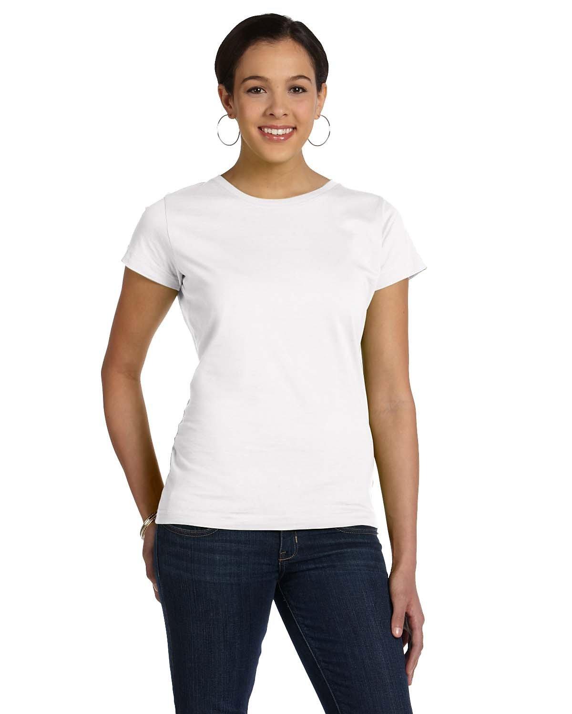 LAT Ladies' Fine Jersey T-Shirt WHITE