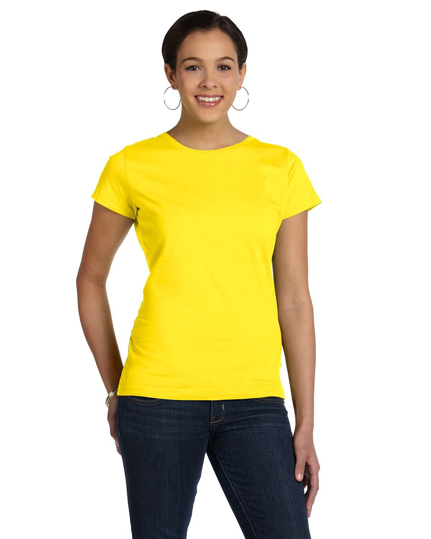 LAT Ladies' Fine Jersey T-Shirt YELLOW