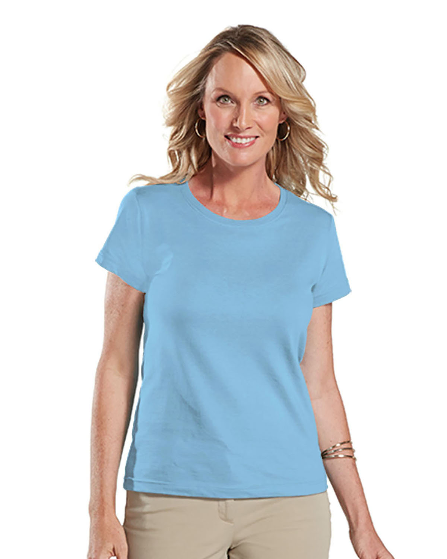 LAT Ladies' Fine Jersey T-Shirt LIGHT BLUE