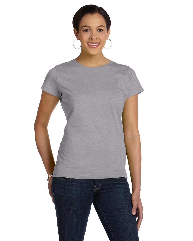LAT Ladies' Fine Jersey T-Shirt HEATHER