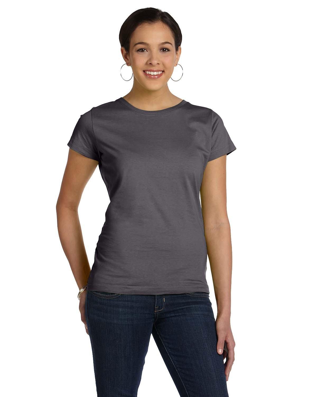 LAT Ladies' Fine Jersey T-Shirt CHARCOAL