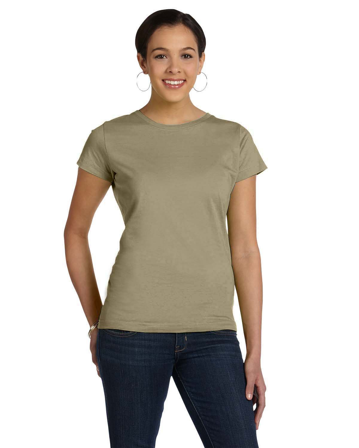 LAT Ladies' Fine Jersey T-Shirt COYOTE BROWN