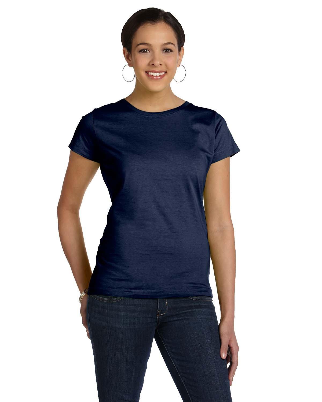 LAT Ladies' Fine Jersey T-Shirt NAVY