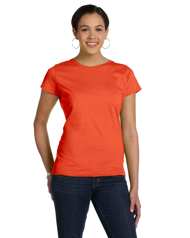 LAT Ladies' Fine Jersey T-Shirt ORANGE