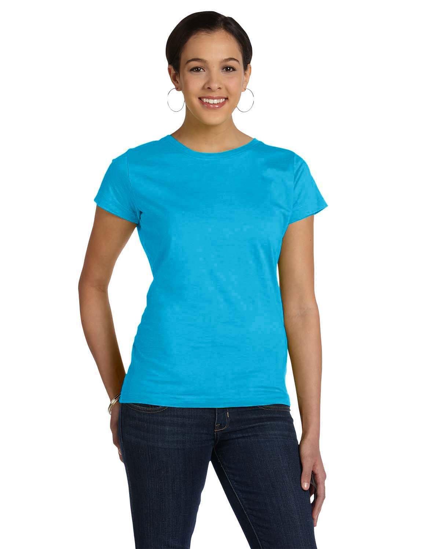 LAT Ladies' Fine Jersey T-Shirt TURQUOISE