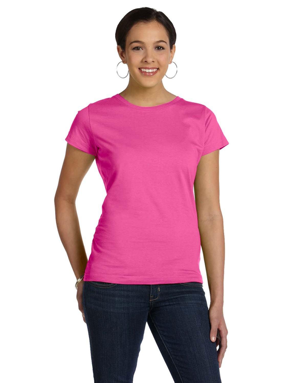 LAT Ladies' Fine Jersey T-Shirt RASPBERRY