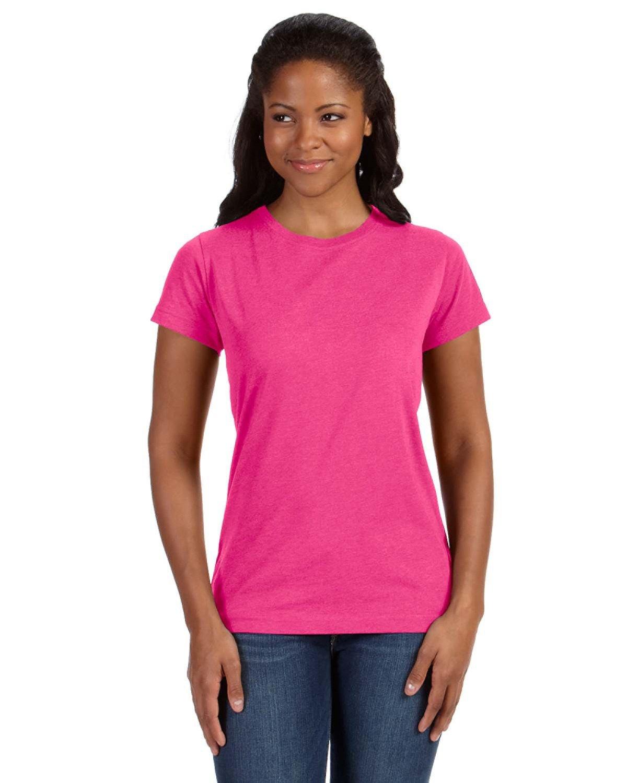 LAT Ladies' Fine Jersey T-Shirt VINTAGE HOT PINK