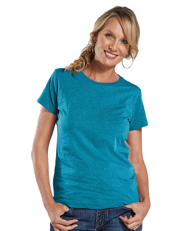 LAT Ladies' Fine Jersey T-Shirt VINTAGE TURQ