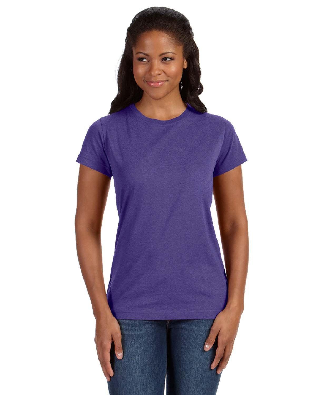 LAT Ladies' Fine Jersey T-Shirt VINTAGE PURPLE