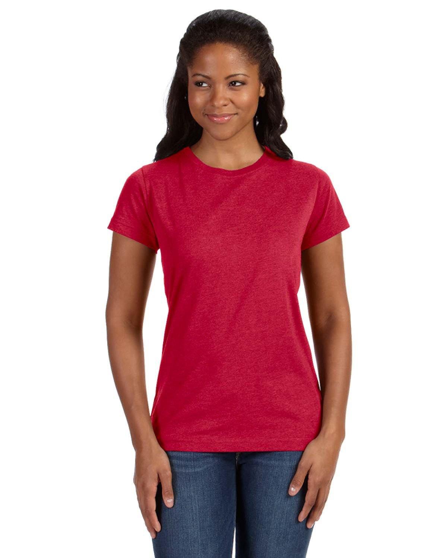 LAT Ladies' Fine Jersey T-Shirt VINTAGE RED
