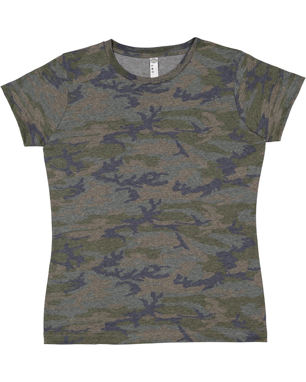 LAT Ladies' Fine Jersey T-Shirt VINTAGE CAMO