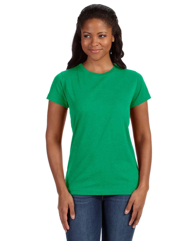 LAT Ladies' Fine Jersey T-Shirt VINTAGE GREEN