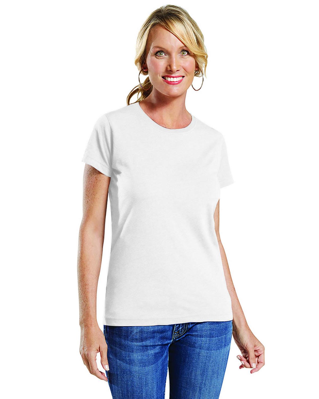 LAT Ladies' Fine Jersey T-Shirt BLENDED WHITE