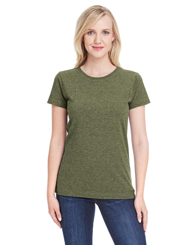 LAT Ladies' Fine Jersey T-Shirt VNT MILITARY GRN